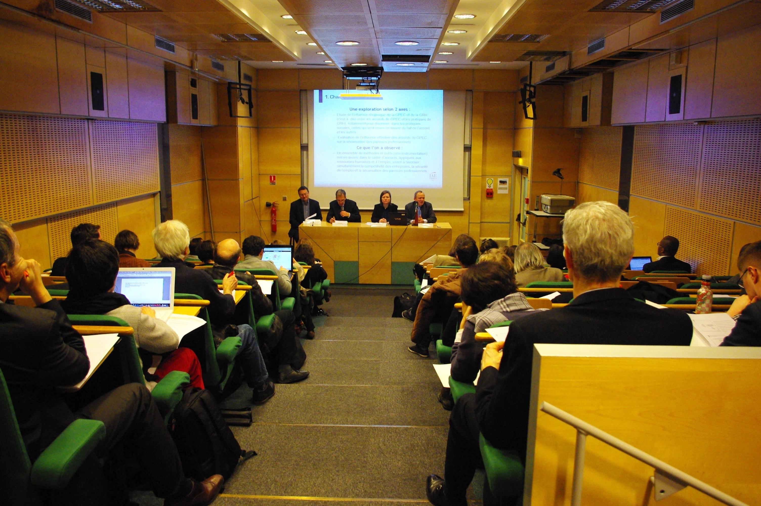 19 mars 2013 – 1/2 journée d'étude et table ronde sur le thème : Après la loi et dans la crise, la GPEC a-t-elle encore un avenir ?